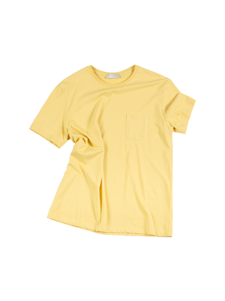GENTLE 26's Crew Neck Pocket Tee - Lemon OLDbe(올드비)