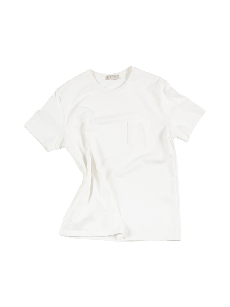 GENTLE 16's Crew Neck Pocket Tee - IvoryOLDbe(올드비)