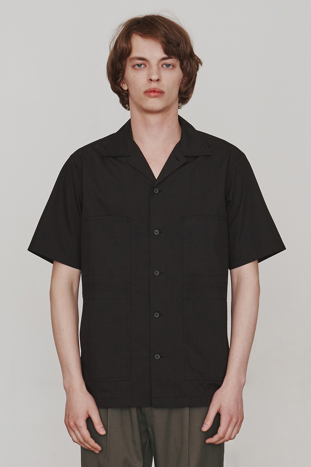 Finger Stitch Shirts (Black)ESFAI(에스파이)