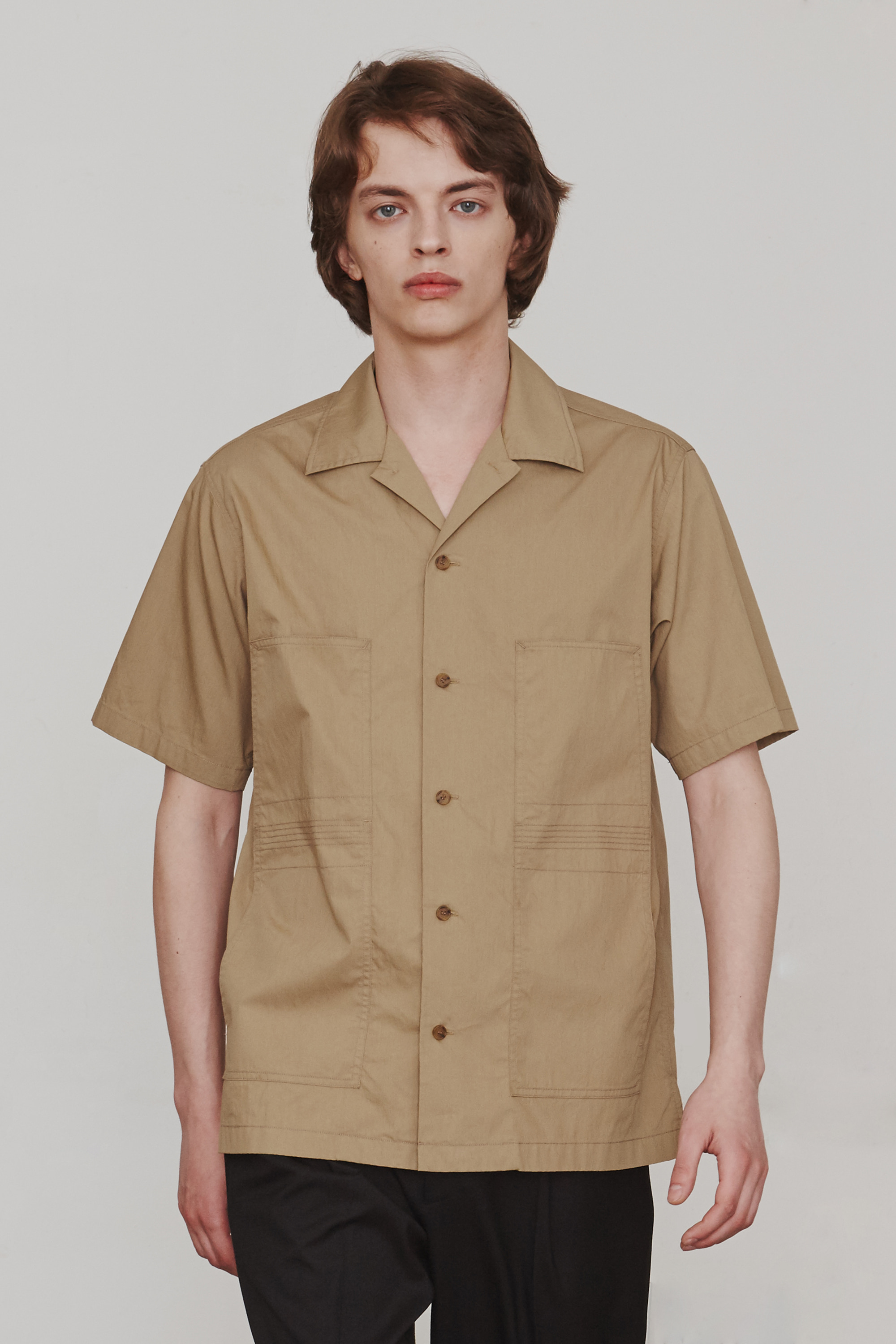 Finger Stitch Shirts (Beige)ESFAI(에스파이)
