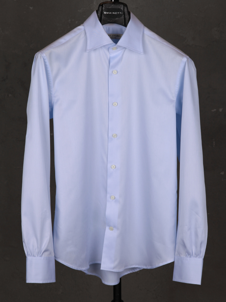 120's News Anchor Shirts - Sky BlueBELLVORO(벨보로)