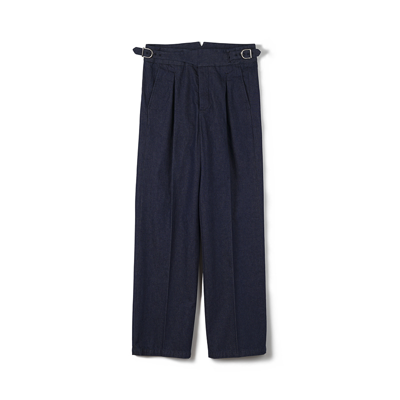 FLB Washed Denim Gurkha Pants - IndigoBANTS(반츠)