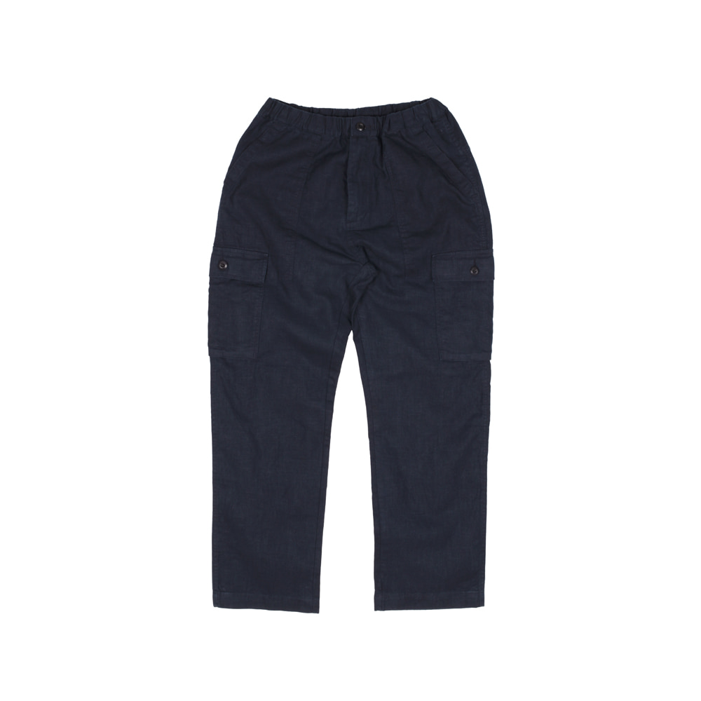 LINEN PAPA PANTS [NAVY]THE RESQ(더레스큐)