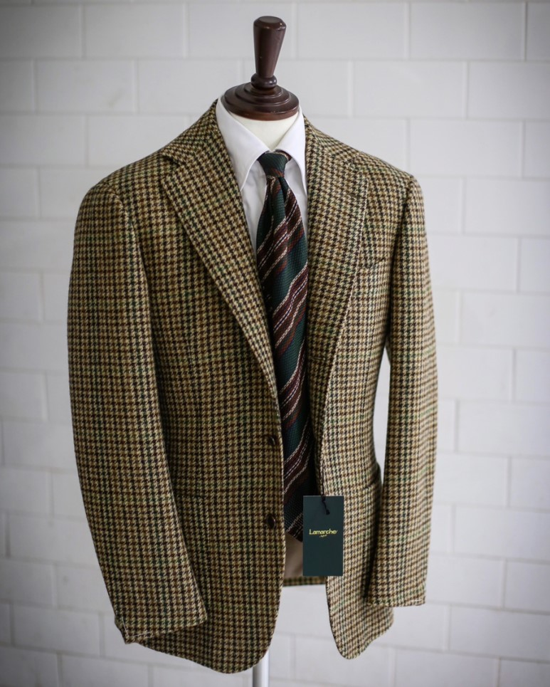 LMJ-06 green gunclunb tweed jacketLamarche Napoli made by RingJacket라마르쉐나폴리