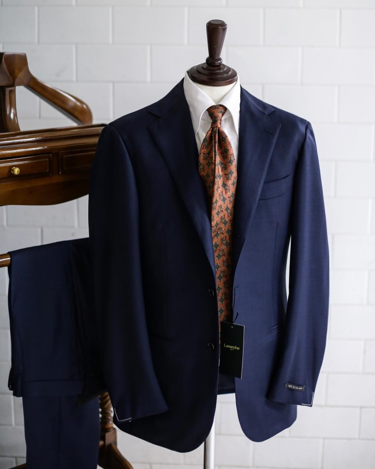 LMJ-06 royal blue SUITLamarche Napoli made by RingJacket라마르쉐나폴리
