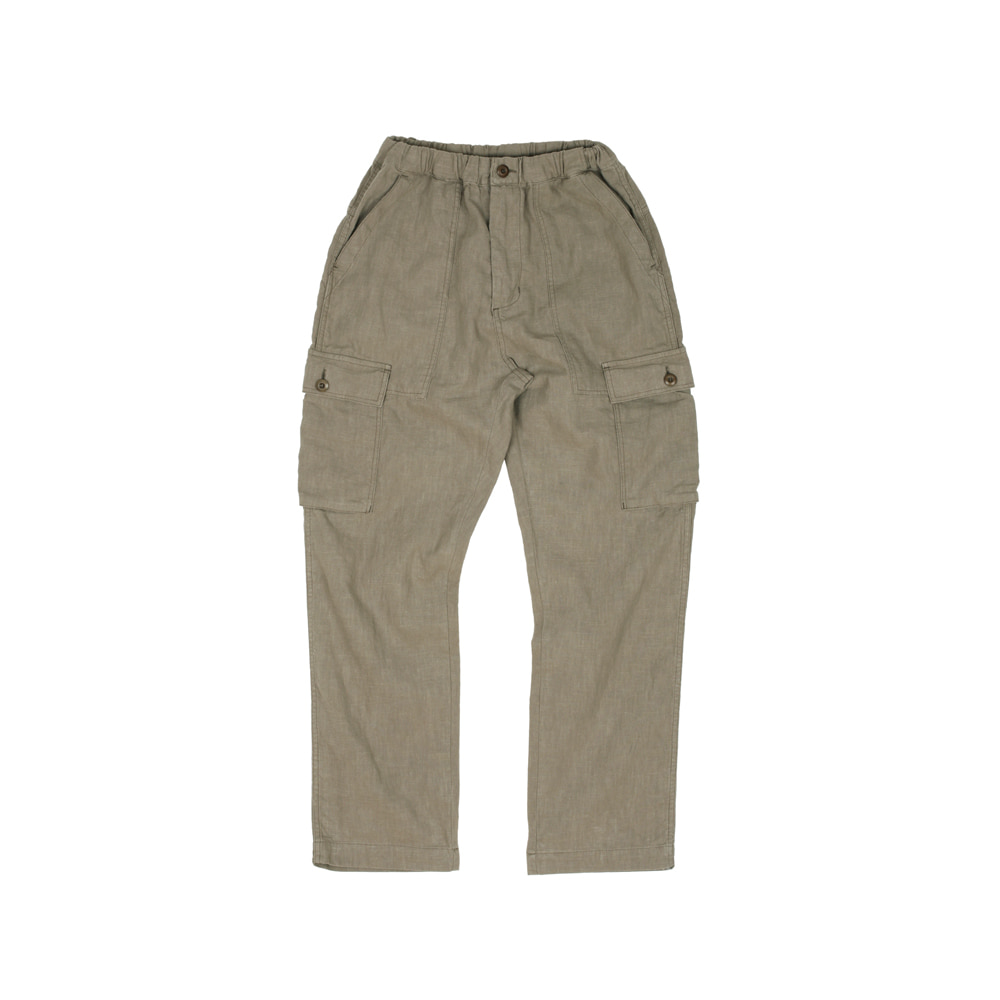 LINEN PAPA PANTS [KHAKI]THE RESQ(더레스큐)
