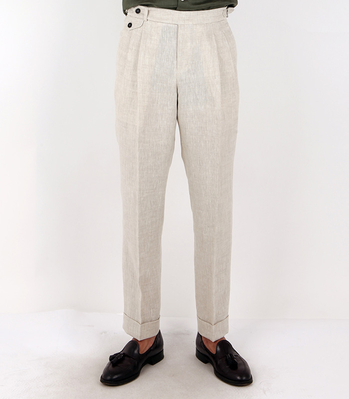 LINEN TROUSERS - SAND COLOR MEVERICK(메버릭)