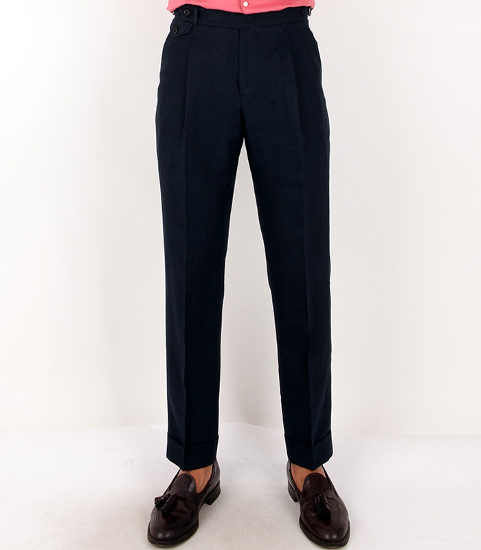 LINEN TROUSERS - NAVY COLORMEVERICK(메버릭)