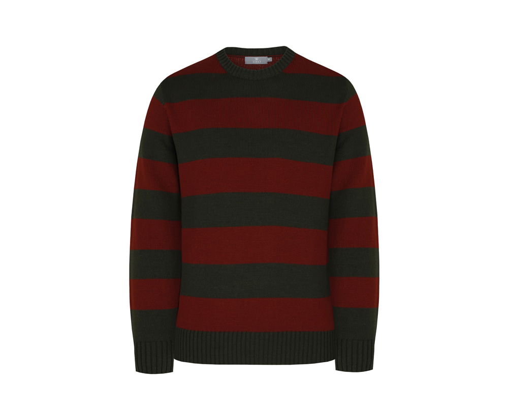 [WHITELABEL] Double Stripe Crewneck_BurgundyIOLO(이올로)