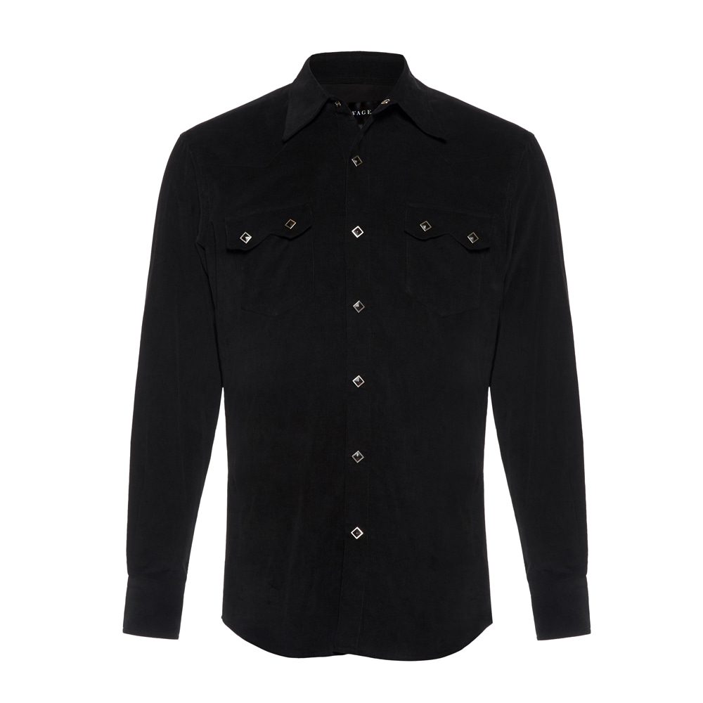 Corduroy Western Shirts - Black (Diamond Button)SAVAGE(세비지)