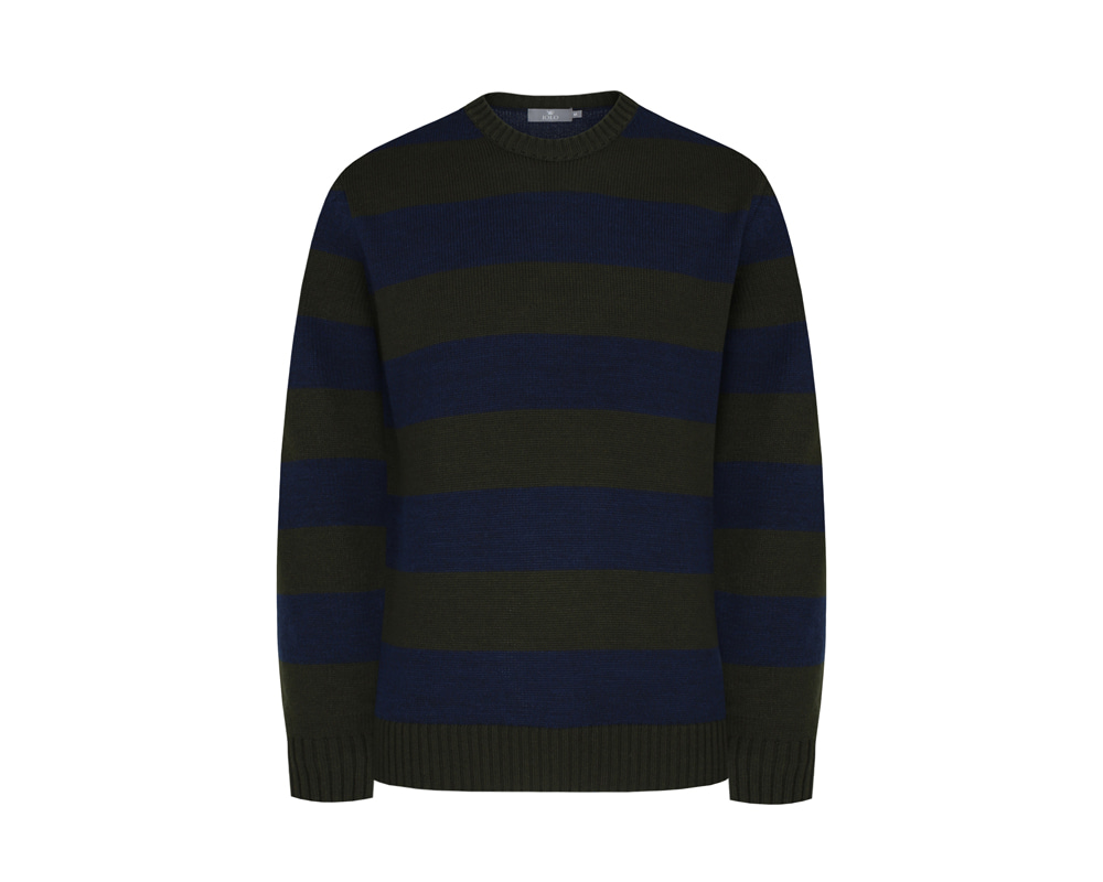 [WHITELABEL] Double Stripe Crewneck_NavyIOLO(이올로)