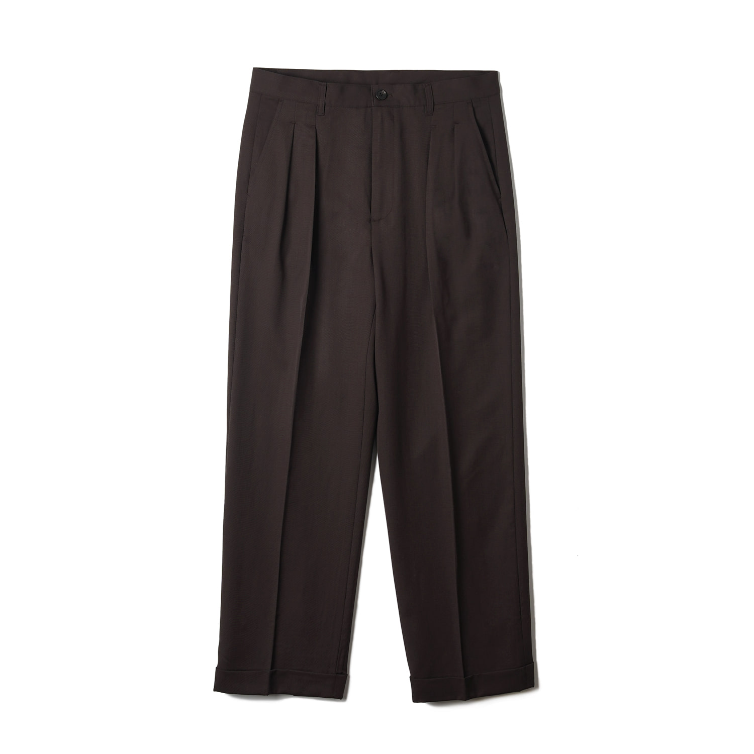 OSF Wool Two-tuck Wide Pants - BrownBants(반츠)