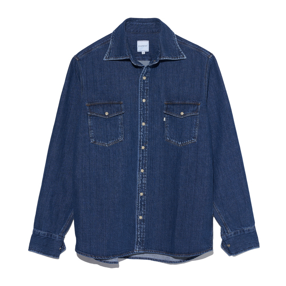 Denim shirts mid blue CHADPROM(채드프롬)