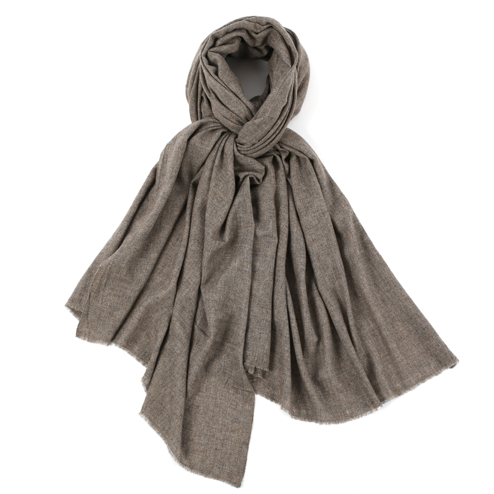 PURE CASHMERE STOLE_DARK ASHED BROWN[FRUI X SEDRIC]
