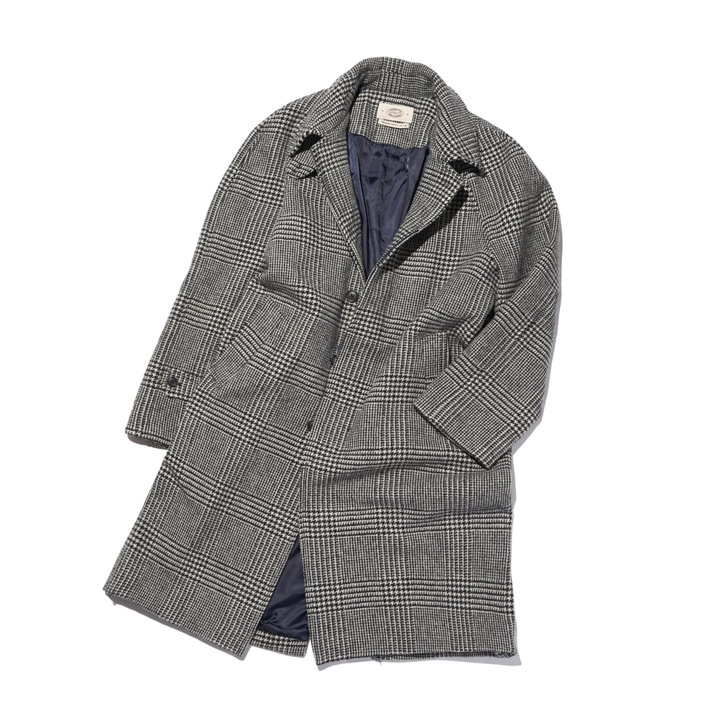 Lovat FABRIC BASIC RAGLAN COAT GLEN CHECK AMFEAST(암피스트)