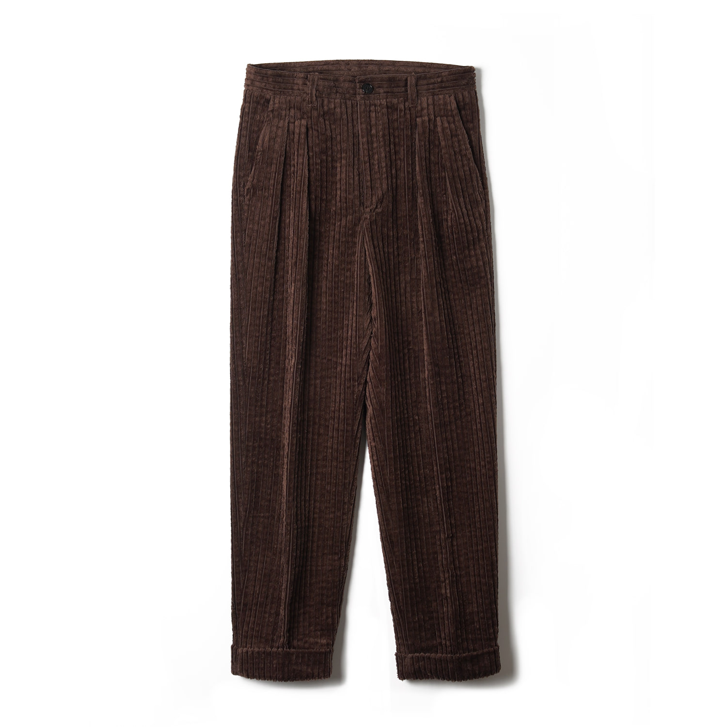 OSF Corduroy Two-tuck Pants - BrownBants(반츠)