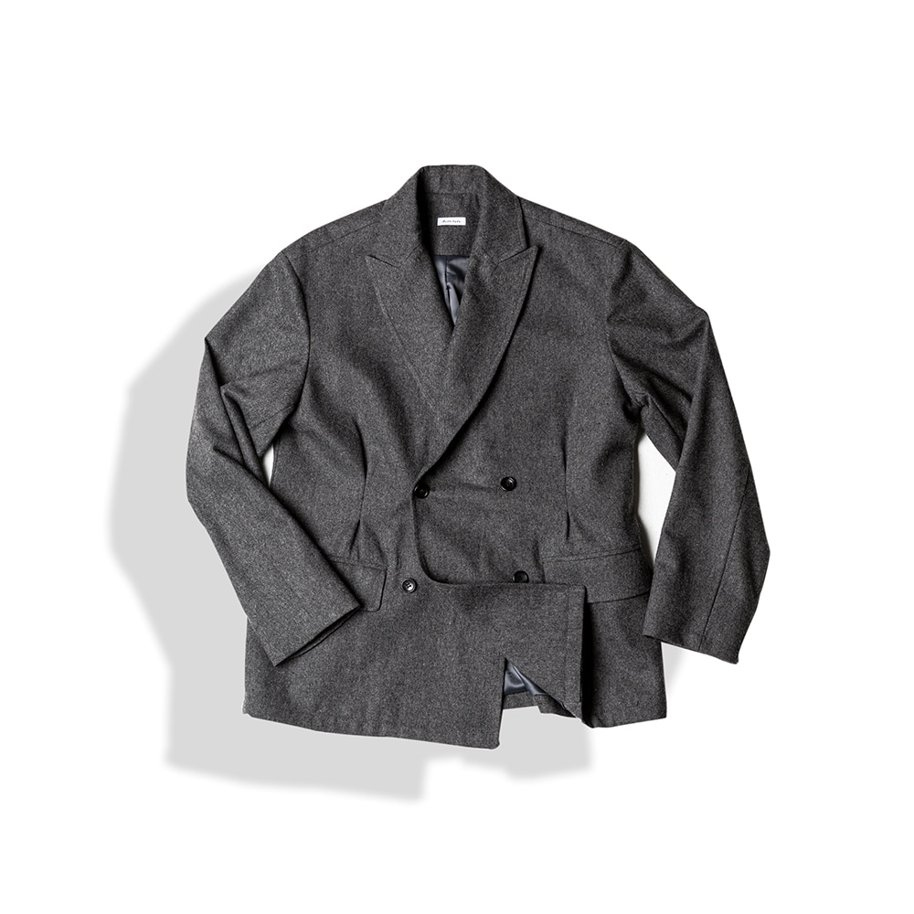 DOUBLE BREASTED TUX WOOL JACKET / W.GREYArttitude(아티튜드)10월15일배송