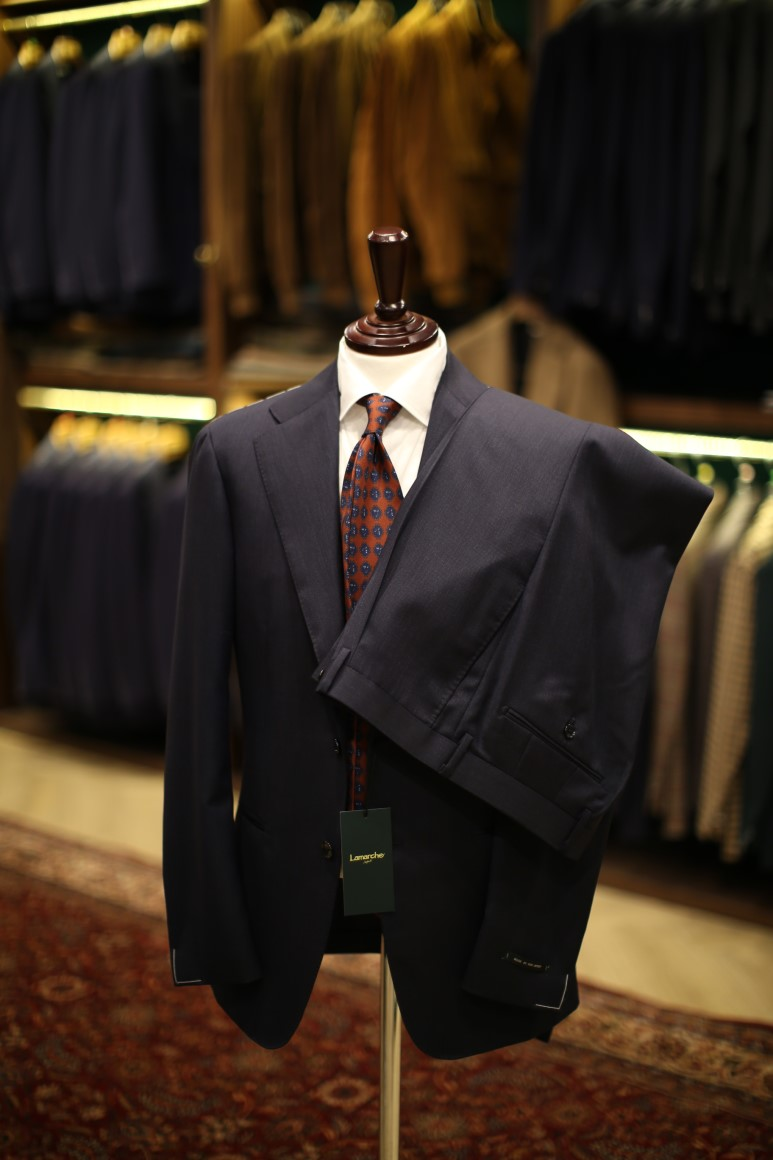 LMJ-05 dark navy SUITLamarche Napoli made by RingJacket라마르쉐나폴리
