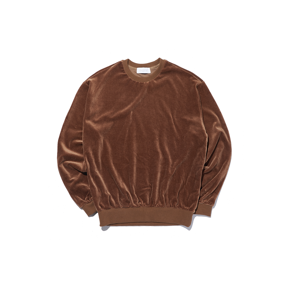 VELOUR SWEAT BROWNDGRE(디그레)