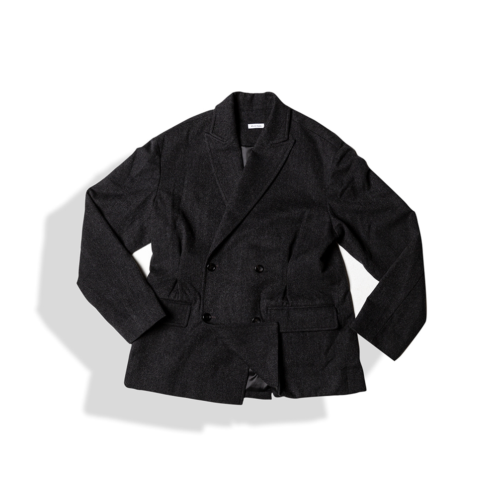 DOUBLE BREASTED TUX WOOL JACKET / F.CHARCOALArttitude(아티튜드)10월15일배송