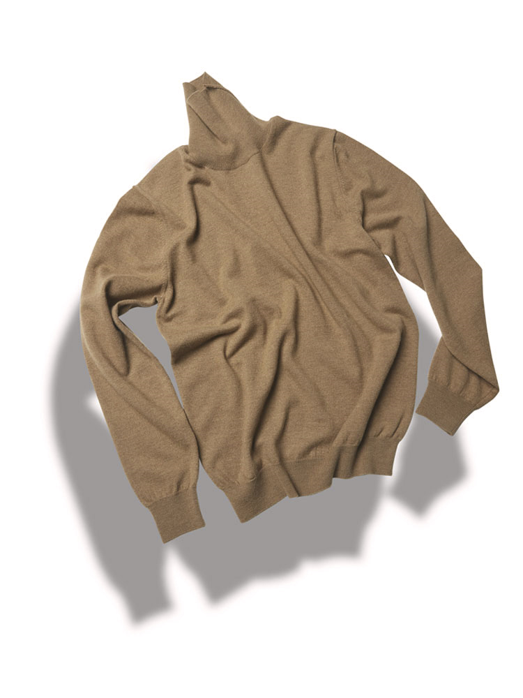 14g turtleneck knit_woolen-yarn BEIGEVERNO(베르노)