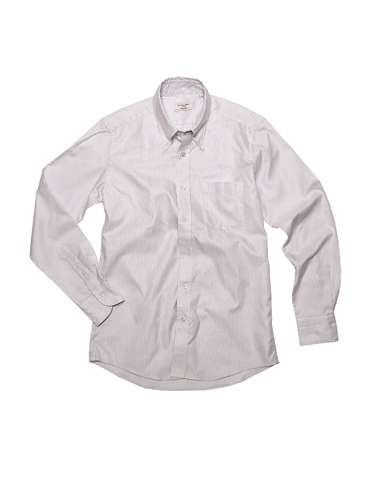 SOFT OXFORD STRIPE SHIRT (GY)PRODE SHIRT(프로드셔츠)