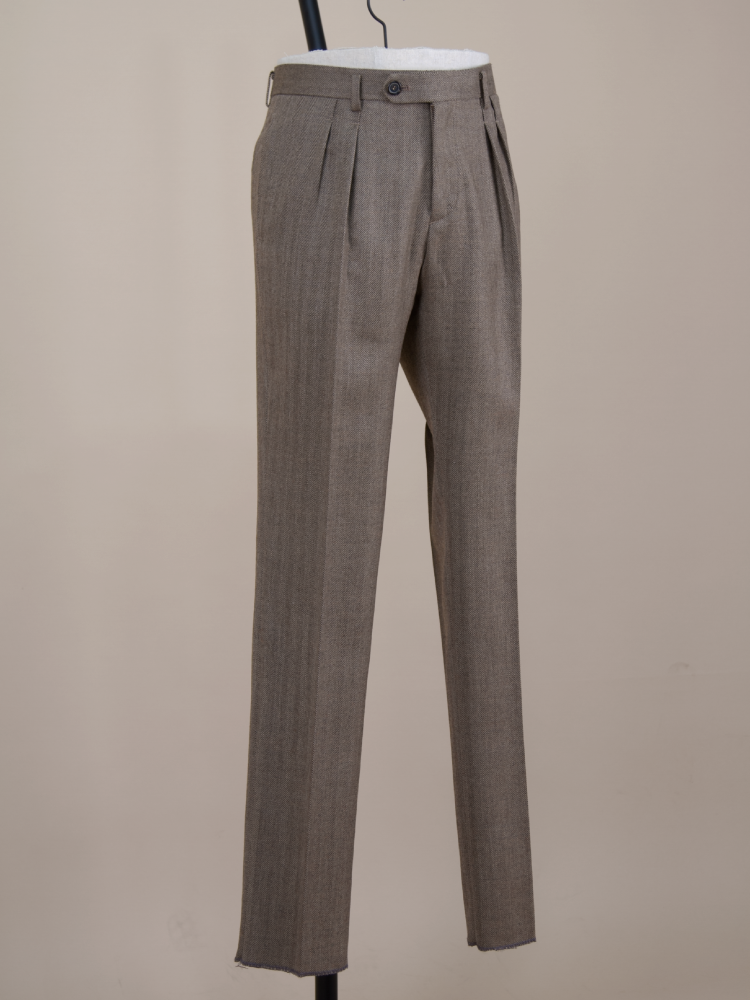 Wool pants- brown herringboneBellvoro(벨보로)