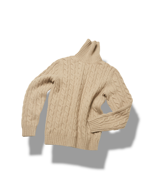 5g 5ply Cable turtleneck_OatmealVERNO(베르노)