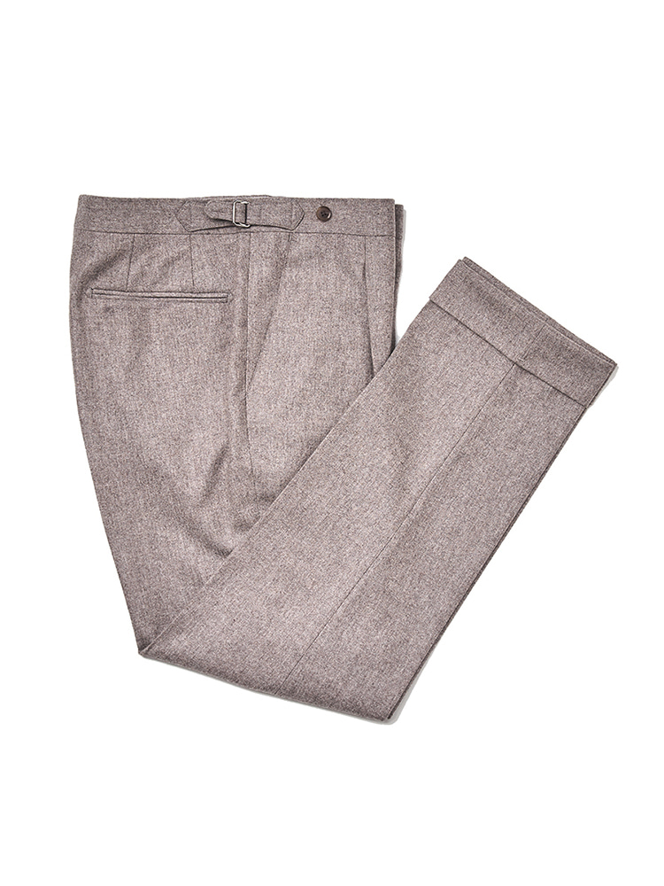(Limited) Canonico Flannel pants - Dark BeigeESTADO(에스타도)1월15일부터 순차배송