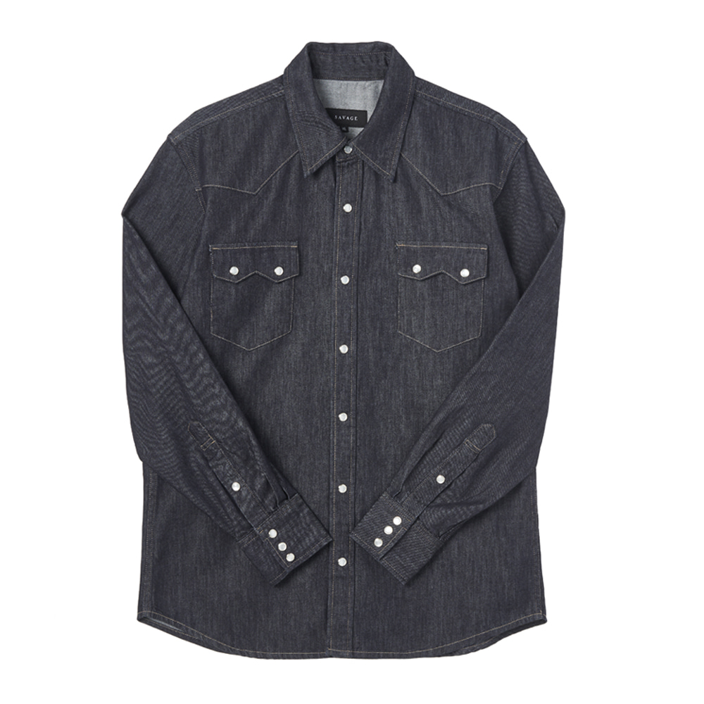 Denim Western Shirts - Dark BlueSAVAGE(세비지)