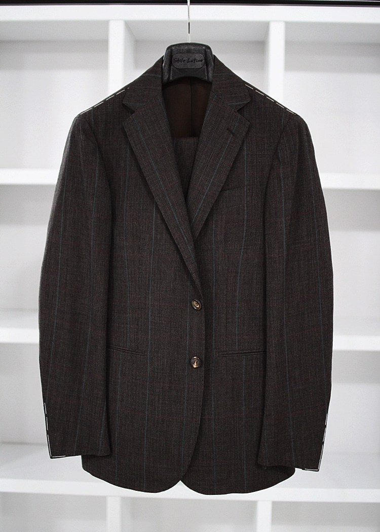 Brown check suitStile latino(스틸레라티노)