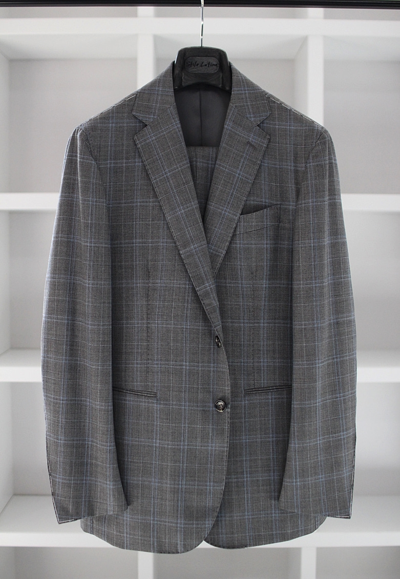 Grey check suitStile latino(스틸레라티노)