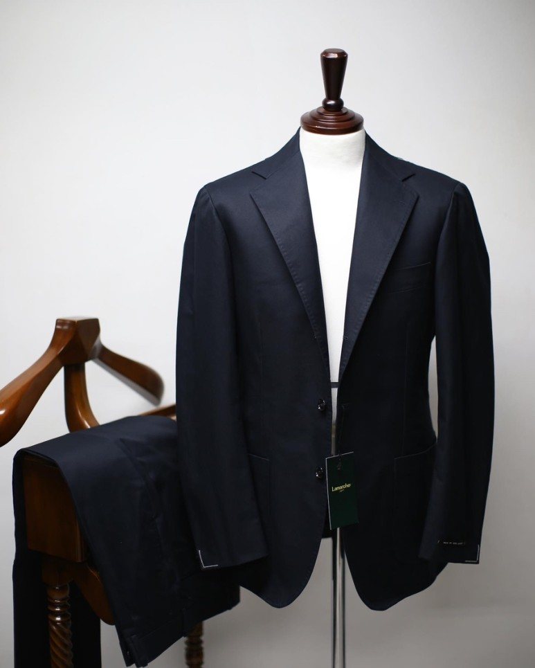 20 S/S Dark Navy SUPIMA COTTON SUITLamarche Napoli라마르쉐 나폴리