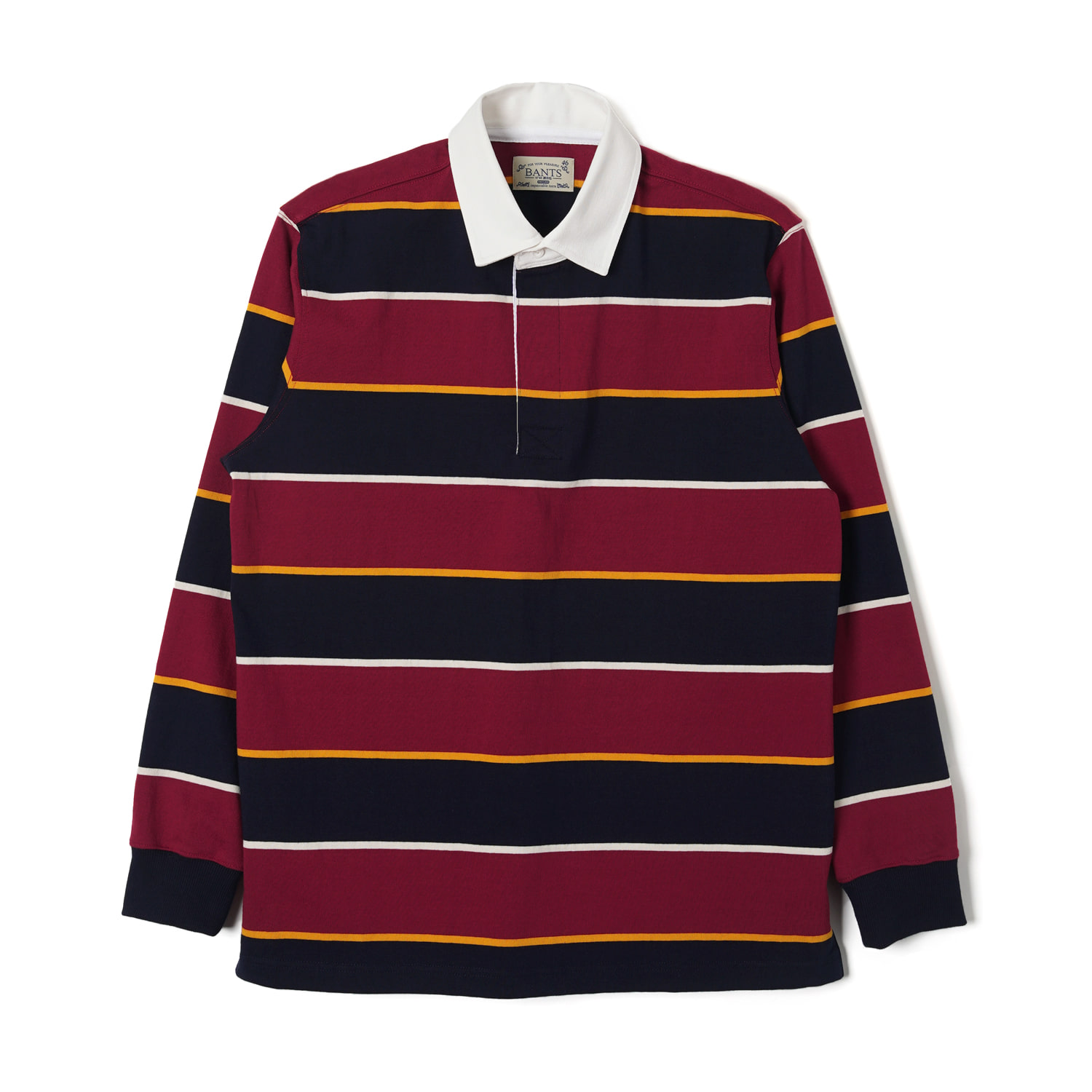 WSK Stripe Cotton Rugby T-shirt - Burgundy x NavyBANTS반츠