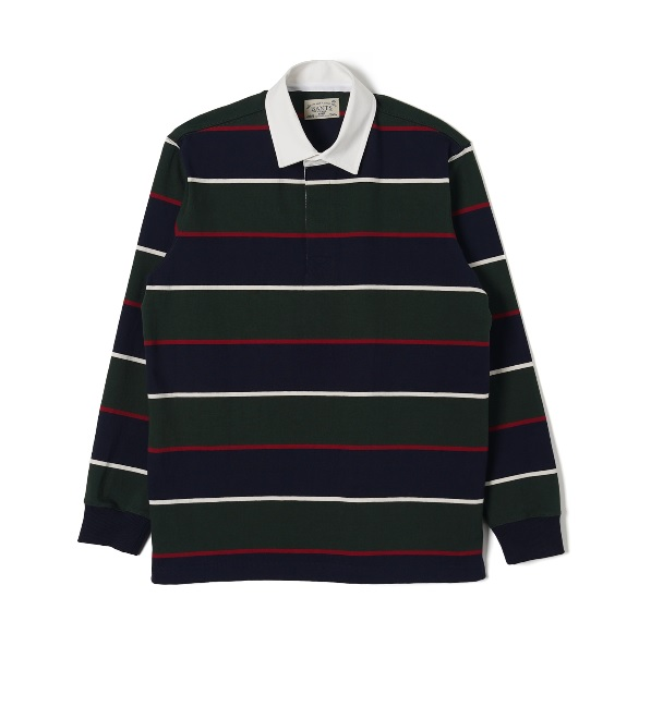 WSK Stripe Cotton Rugby T-shirt - Green x NavyBANTS반츠