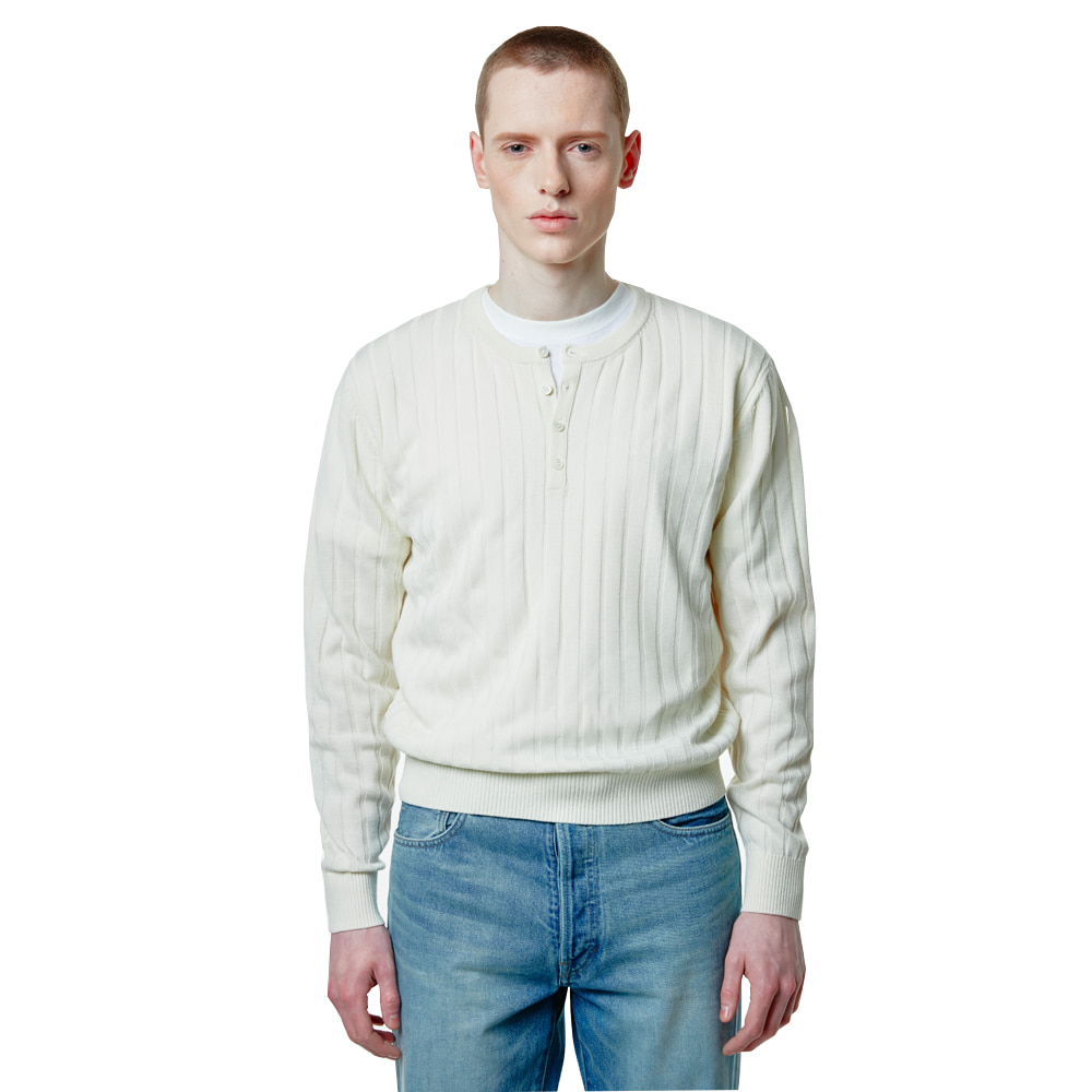 Henley neck knit - IvorySAVAGE(세비지)