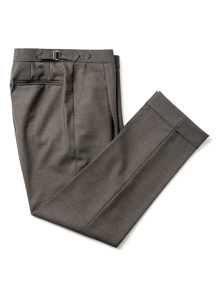 Canonico fresco pants - Dark Beige Estado(에스타도)4월13일부터 배송