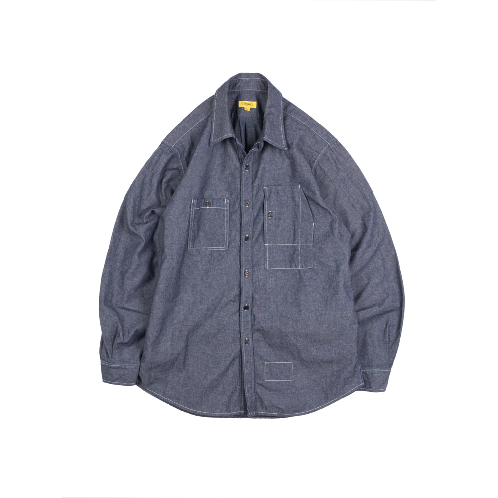 CHAMBRAY TEDDY SHIRT [D-INDIGO]THE RESQ&Co(더레스큐컴패니)