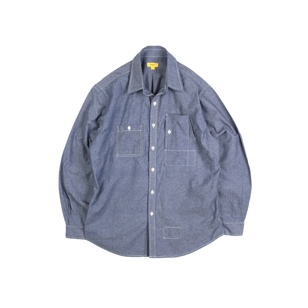 CHAMBRAY TEDDY SHIRT [M-INDIGO]THE RESQ&Co(더레스큐컴패니)