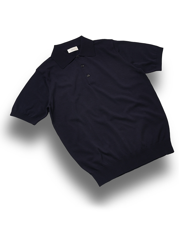 Essential_polo_knit NavyVERNO(베르노)