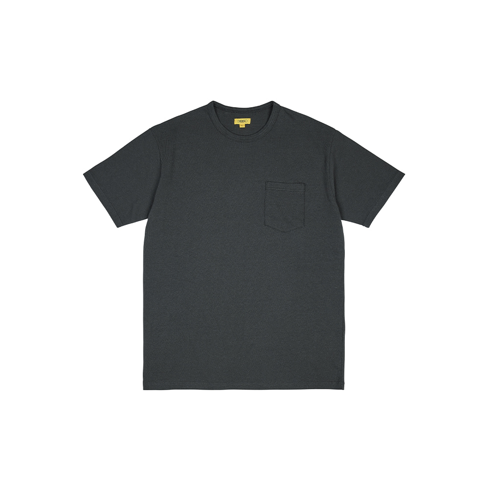 POCKET TEE [CHARCOAL]THE RESQ&Co(더레스큐컴패니)