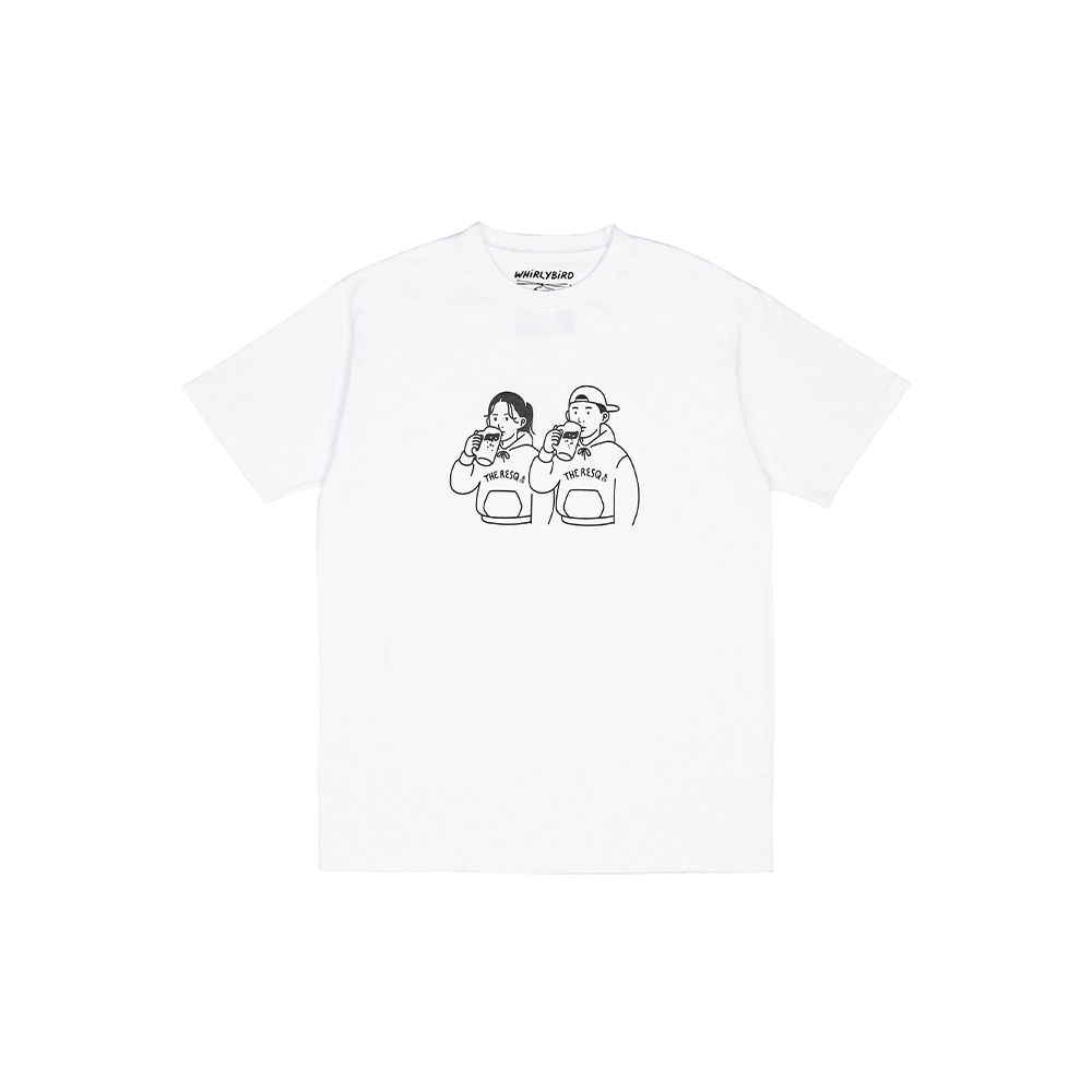 BEER COUPLE TEE [WHITE]THE RESQ&Co(더레스큐컴패니)