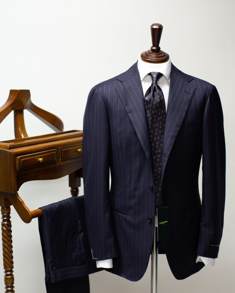 20FW Dark navy stripe suitLamarche Napoli라마르쉐나폴리