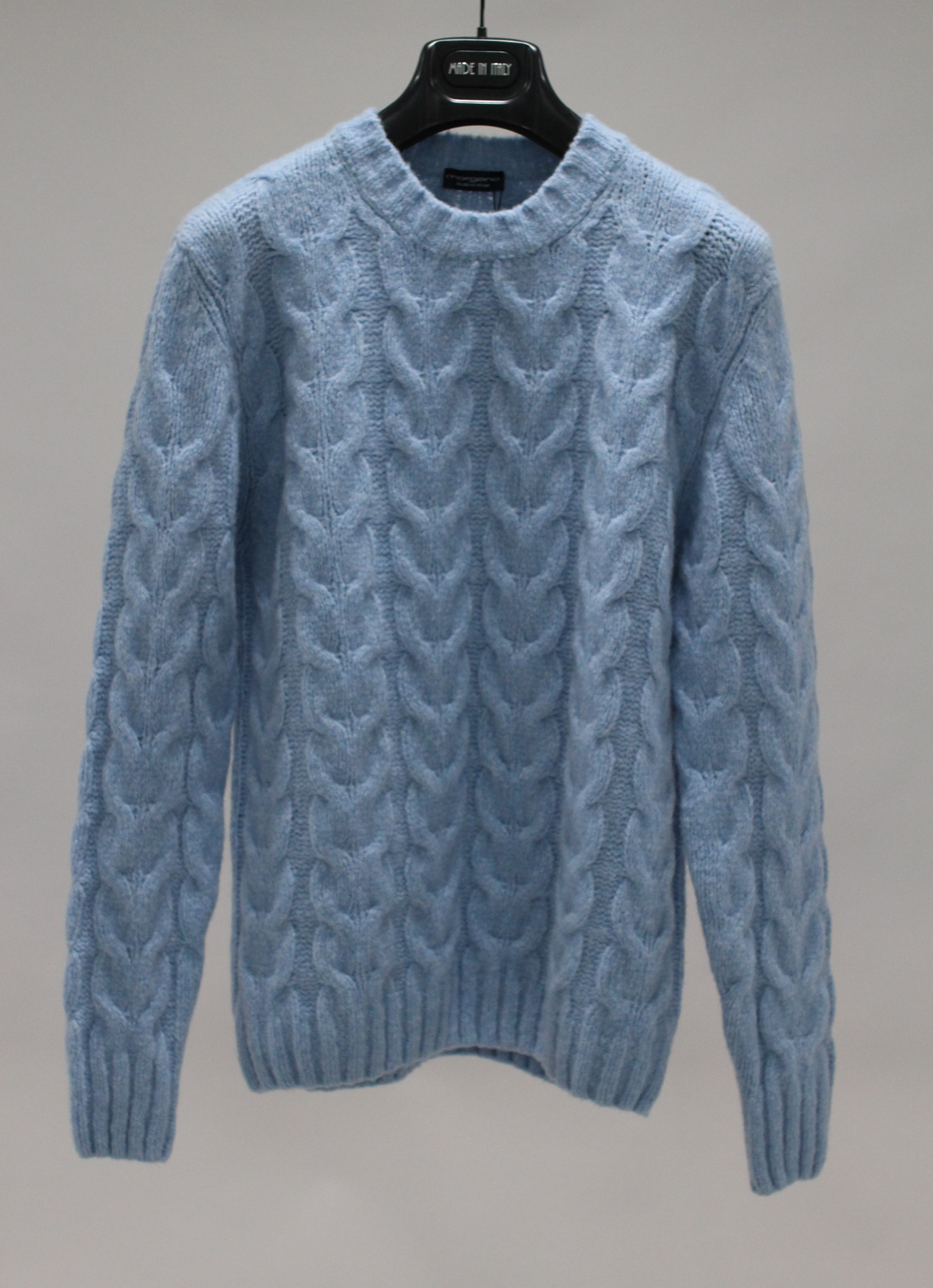 20FW WOOL/CASH blended cable sweater SkyblueMorgano(모르가노)8/13 까지 입점기념 15%세일