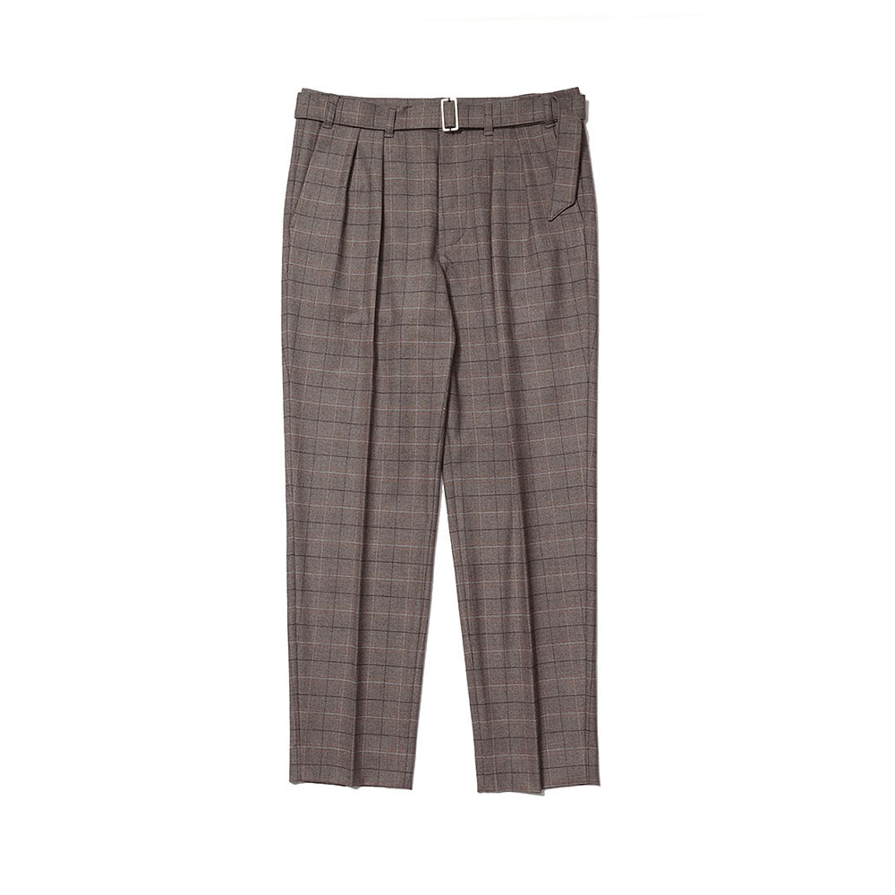 TWO TUCK BLETED PANT (Brown check)Fill Chic(필시크)