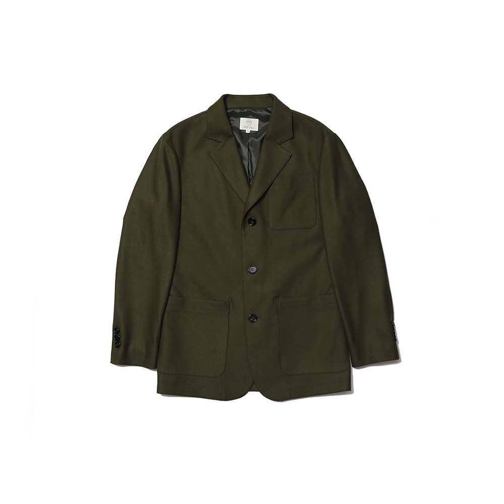 3 BUTTON SINGLE BREASTED JACKET (Khaki)Fill Chic(필시크)
